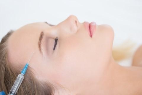 Skin botox procedure on female patient